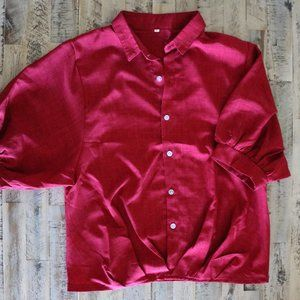 Red Collared Blouse